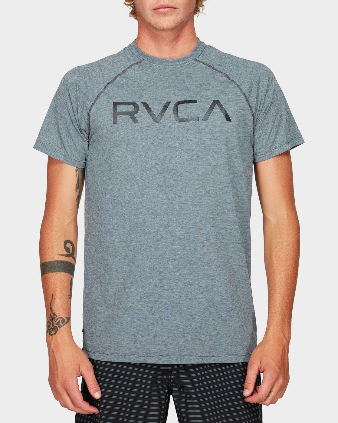 0 Micro Mesh Short Sleeve Tee Grey R382644 RVCA