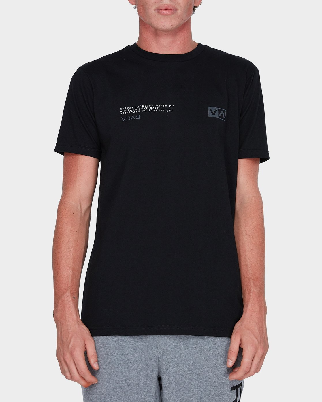 0 Balance Reflect T-Shirt Black R383053 RVCA