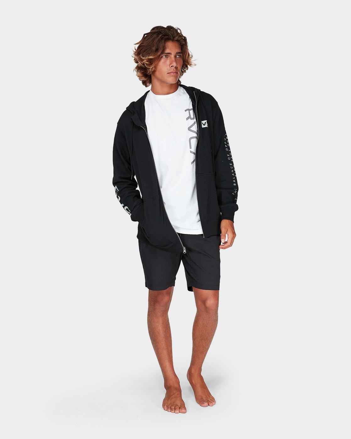 3 Balance Reflect Zip Pullover Hood Black R383152 RVCA