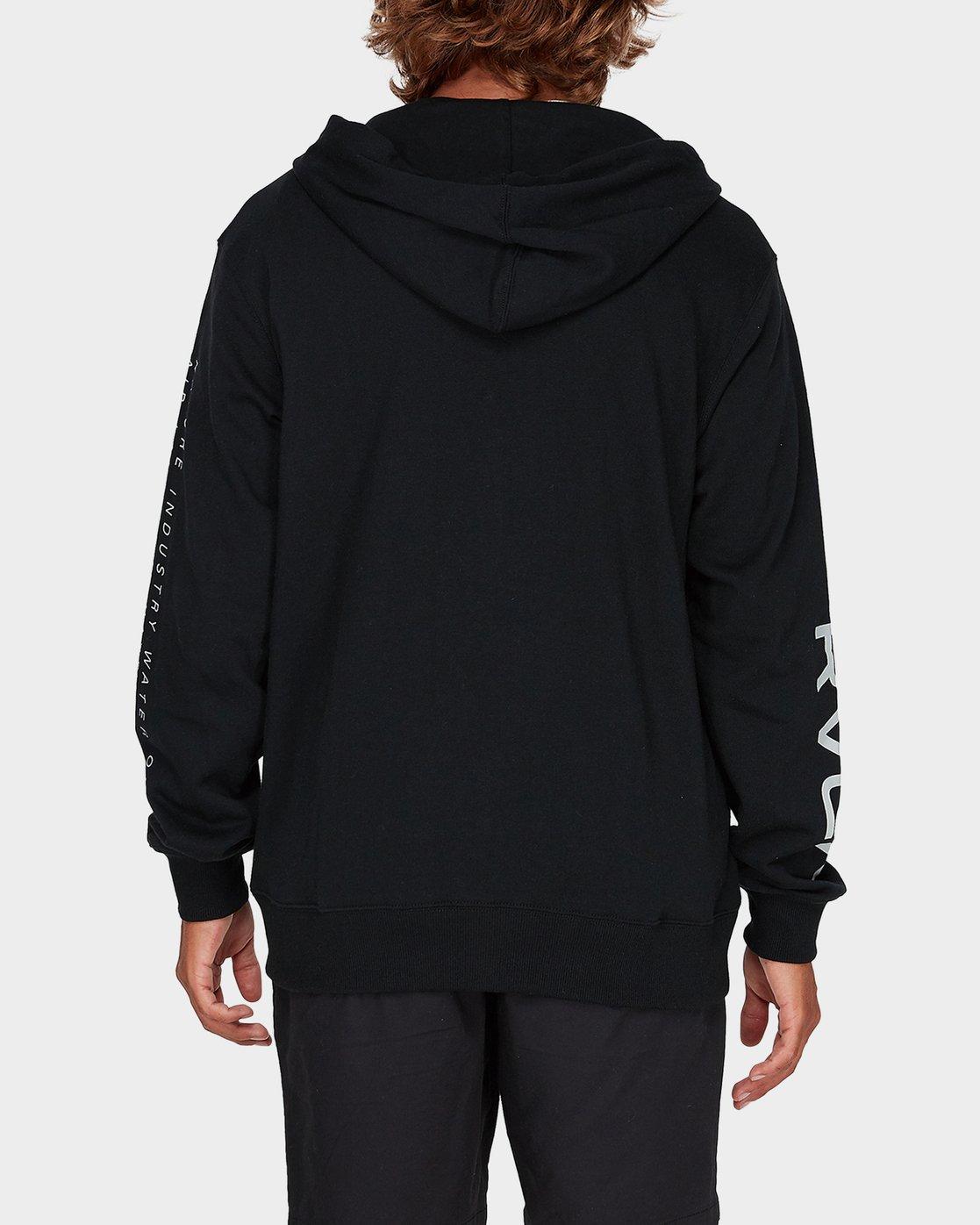 2 Balance Reflect Zip Pullover Hood Black R383152 RVCA