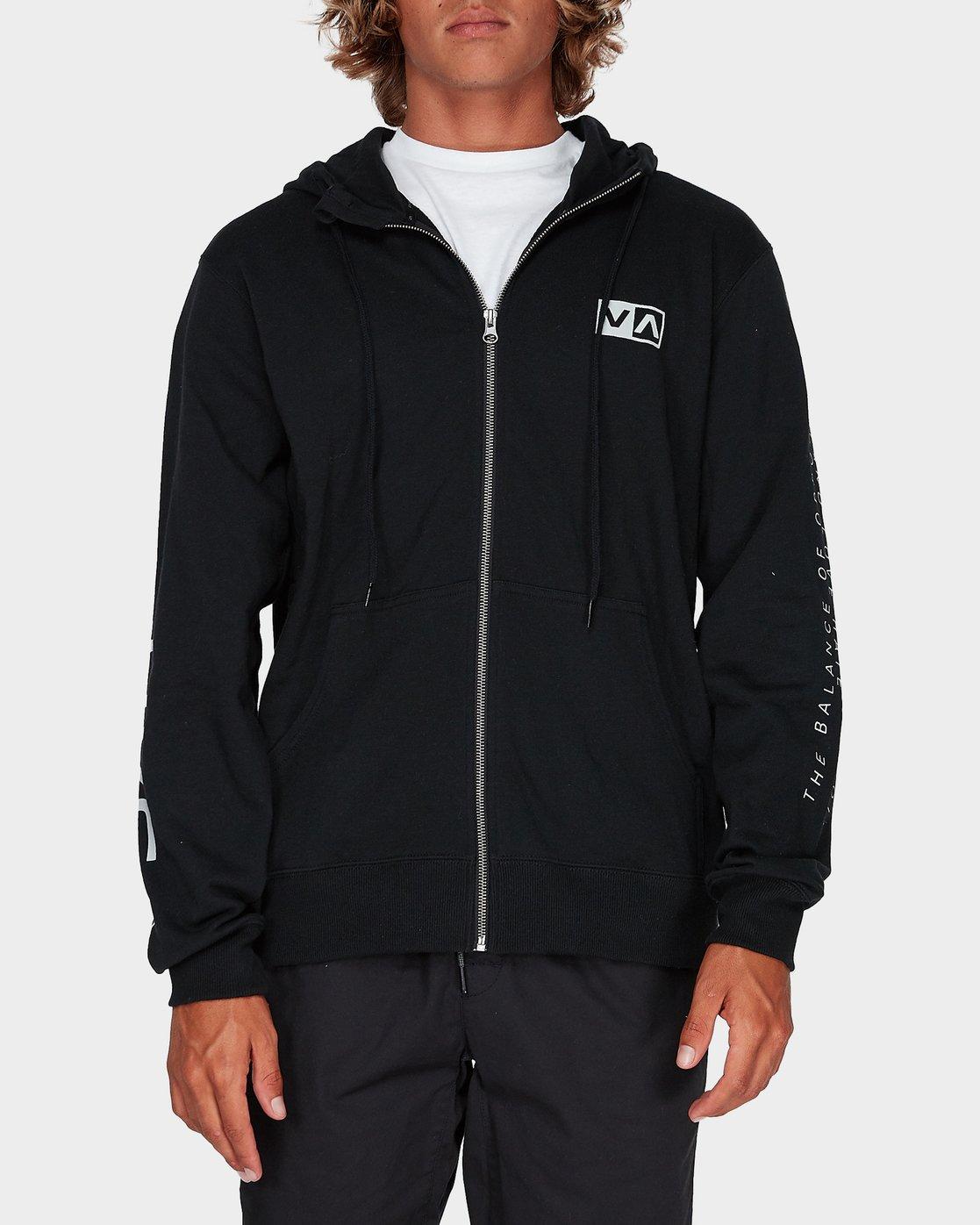 0 Balance Reflect Zip Pullover Hood Black R383152 RVCA