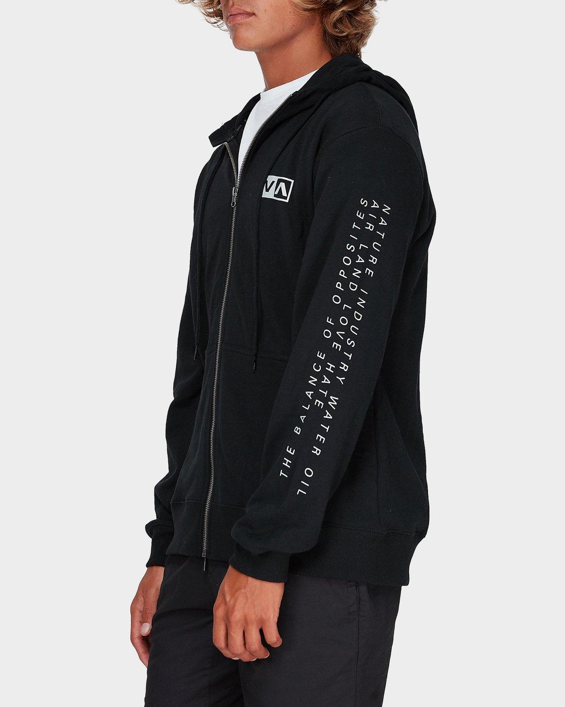1 Balance Reflect Zip Pullover Hood Black R383152 RVCA