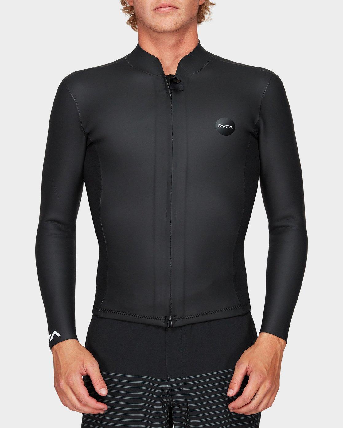 0 Front Zip Smoothie Jacket Black R383641 RVCA