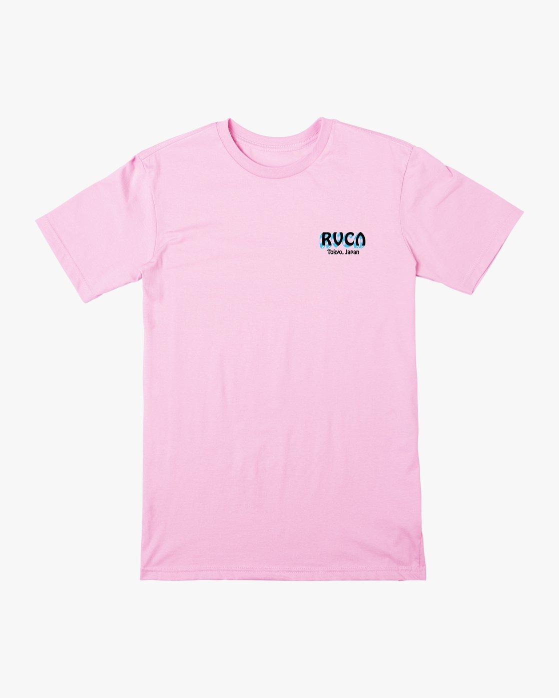 1 Matty's Patty's Tokyo T-Shirt Pink R391061 RVCA