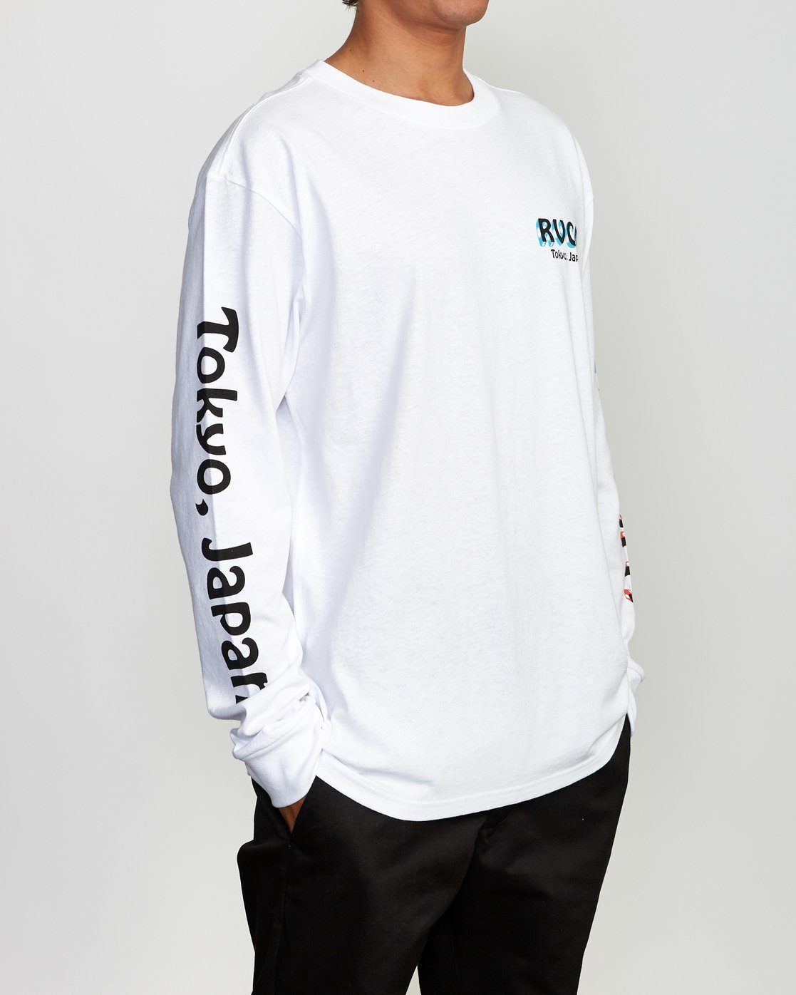 2 Matty's Patty's Long Sleeve Tokyo T-Shirt  R391096 RVCA