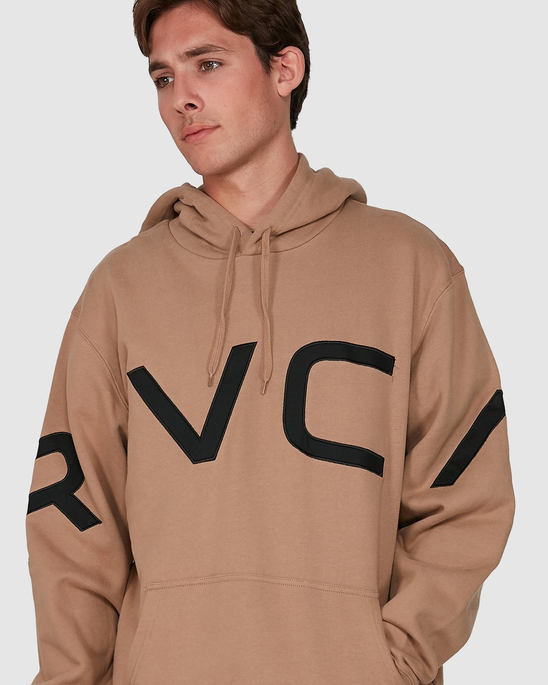 3 Fake Rvca Hoodie Beige R391155 RVCA