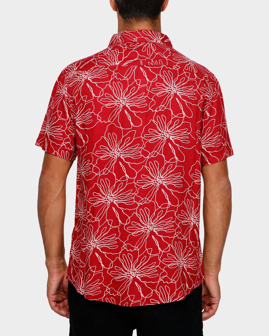 3 Blind Floral Shirt Brown R391181 RVCA
