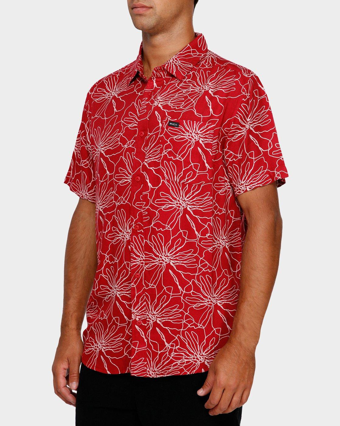 2 Blind Floral Shirt Brown R391181 RVCA