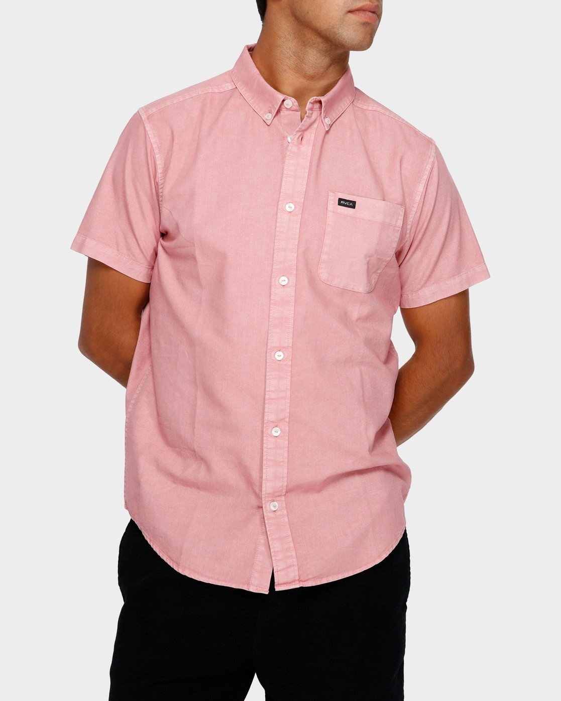 0 Thatll Butter Short Sleeve Pink R391183 RVCA