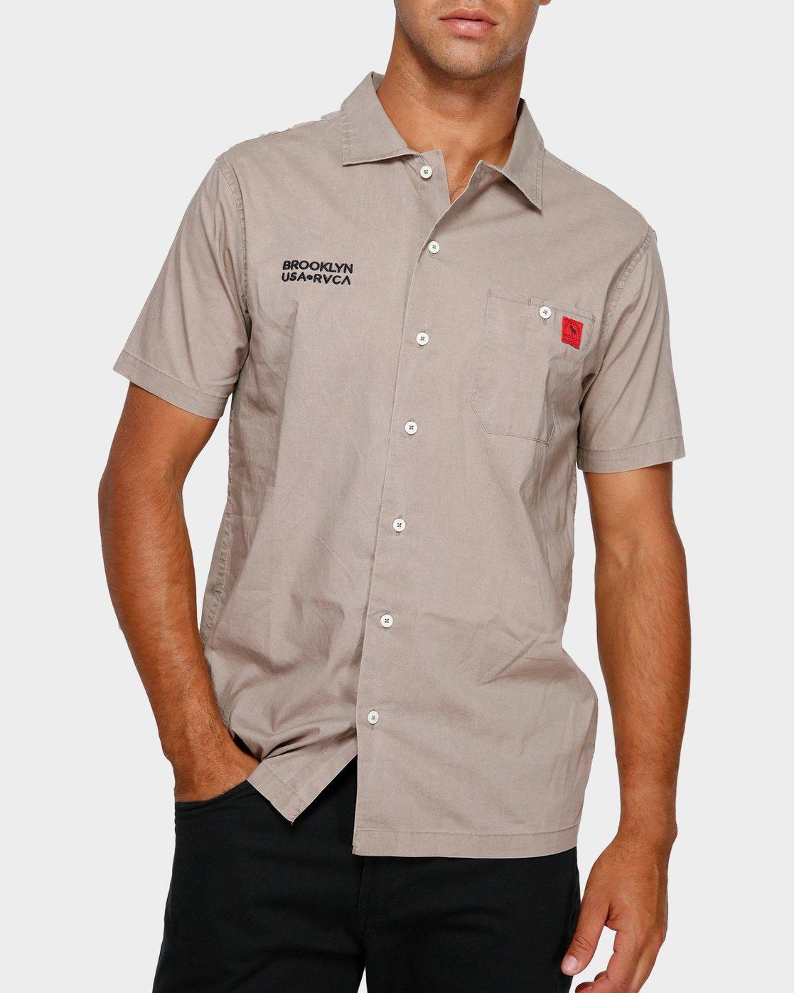 0 Smith Street Short Sleeve Shirt Green R391196 RVCA