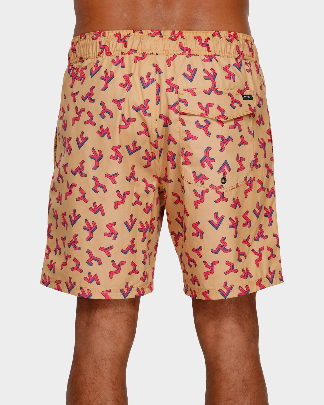 2 Out There Elastic Shorts Orange R391403 RVCA