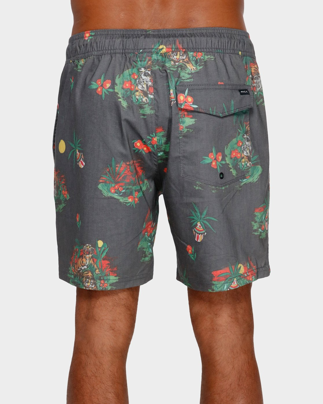 2 Tiger Elastic Short Black R391405 RVCA
