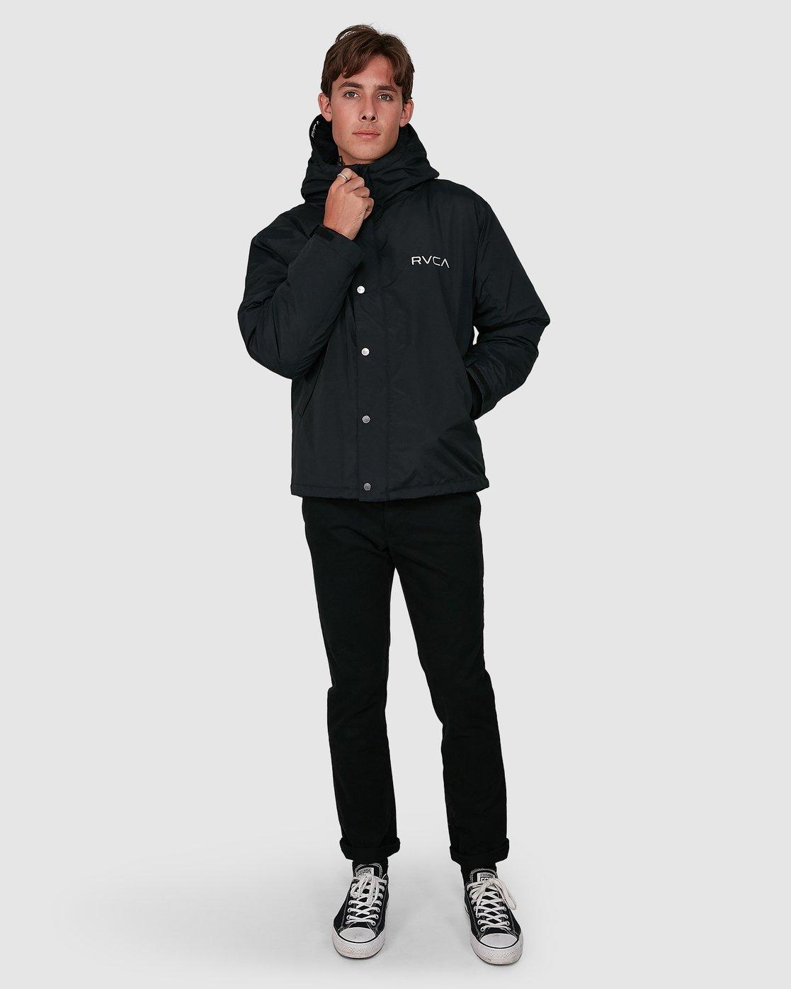 5 Rvca Puffa Jacket Black R391433 RVCA