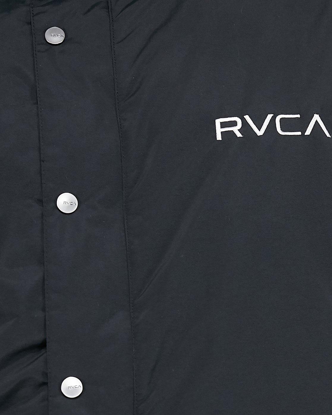 4 Rvca Puffa Jacket Black R391433 RVCA