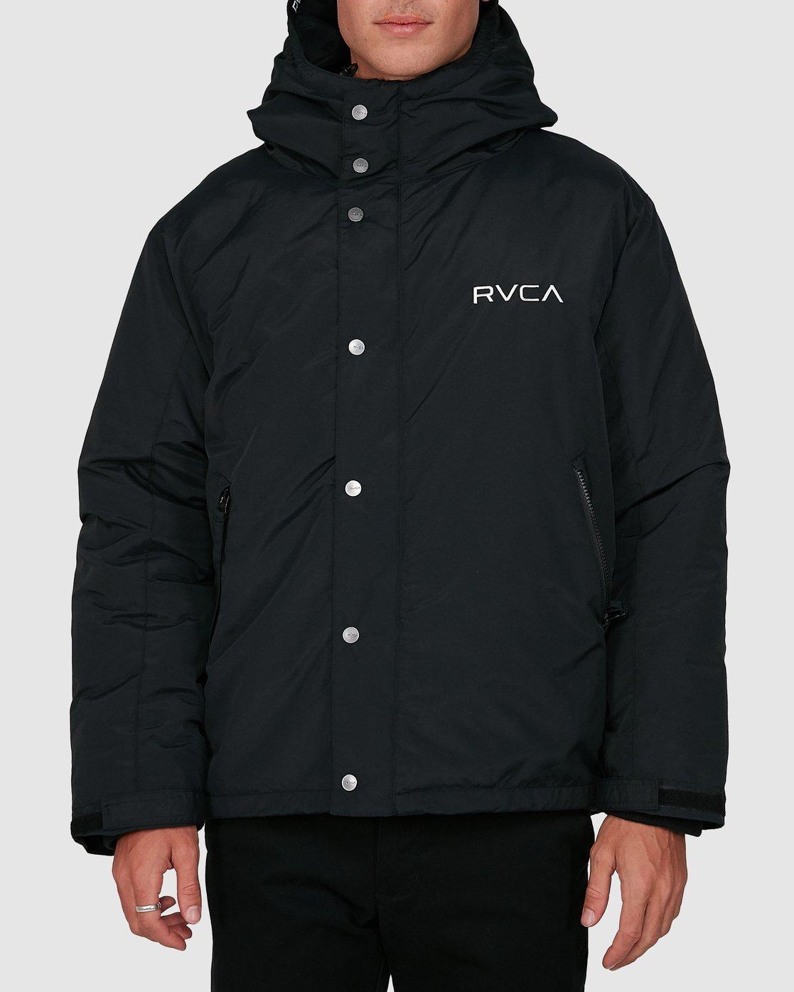 0 Rvca Puffa Jacket Black R391433 RVCA