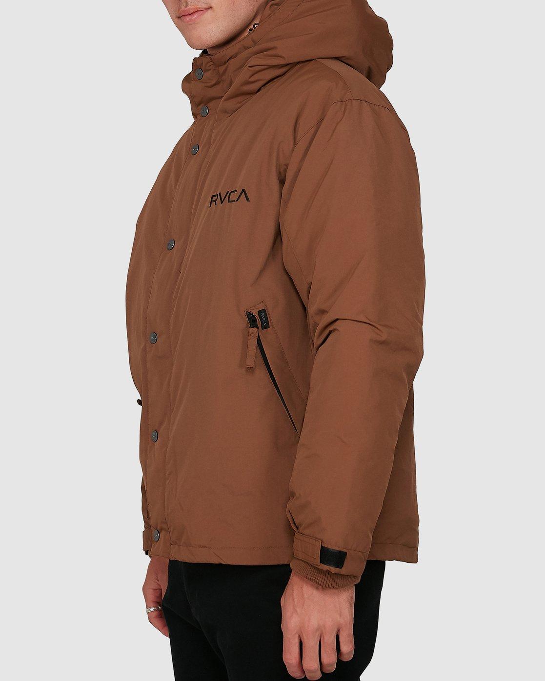 1 Rvca Puffa Jacket Brown R391433 RVCA