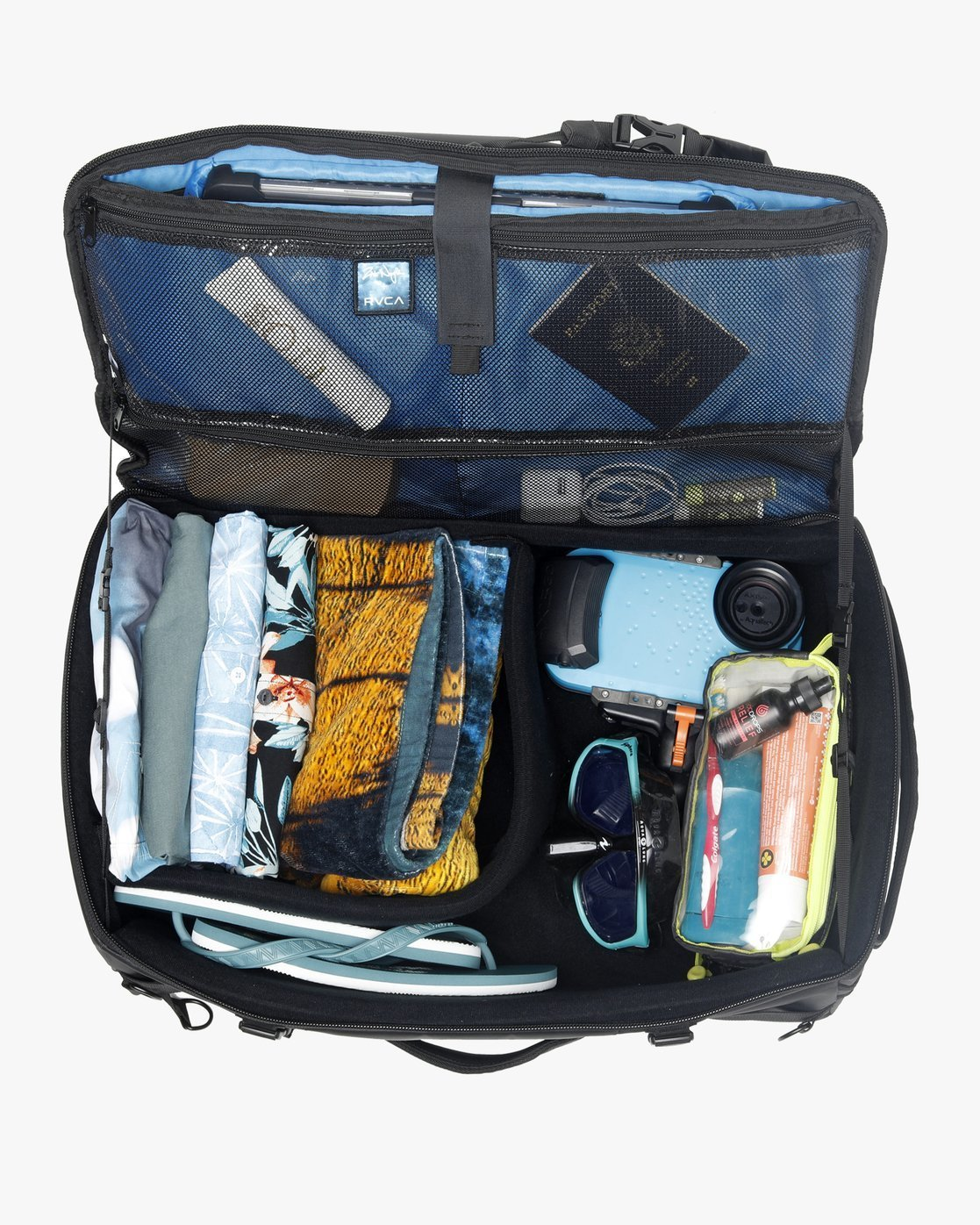 4 Zak Noyle Camera Duffel Bag Black R391459 RVCA