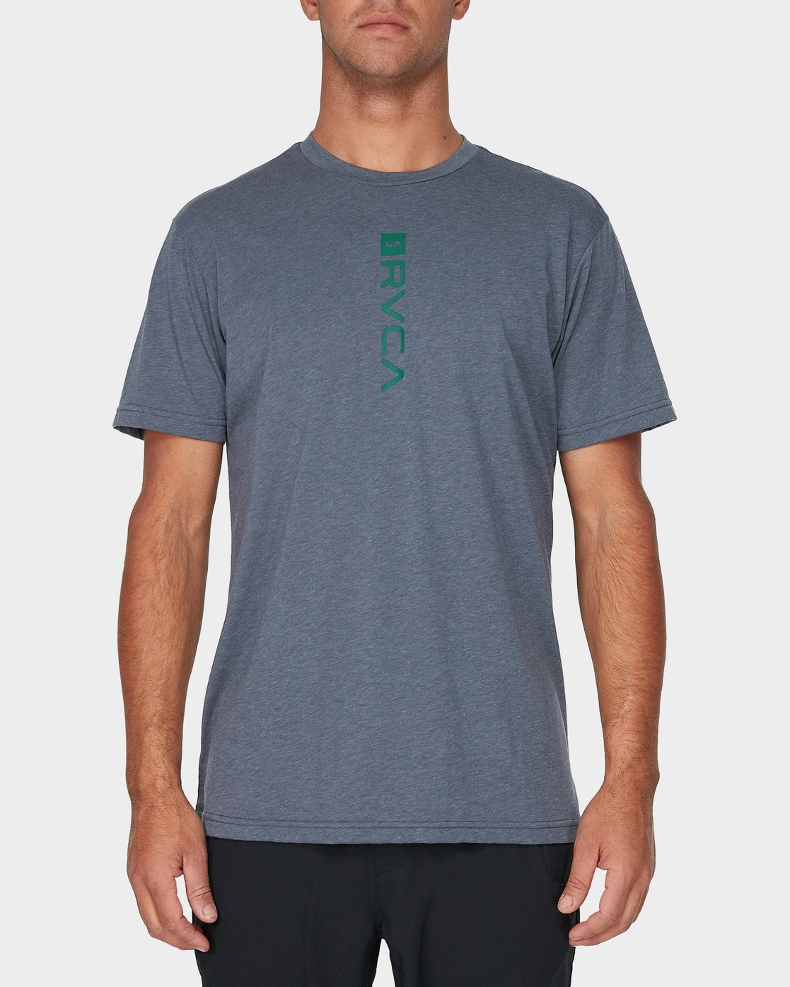 0 RVCA Verted Short Sleeve T-Shirt Grey R393052 RVCA