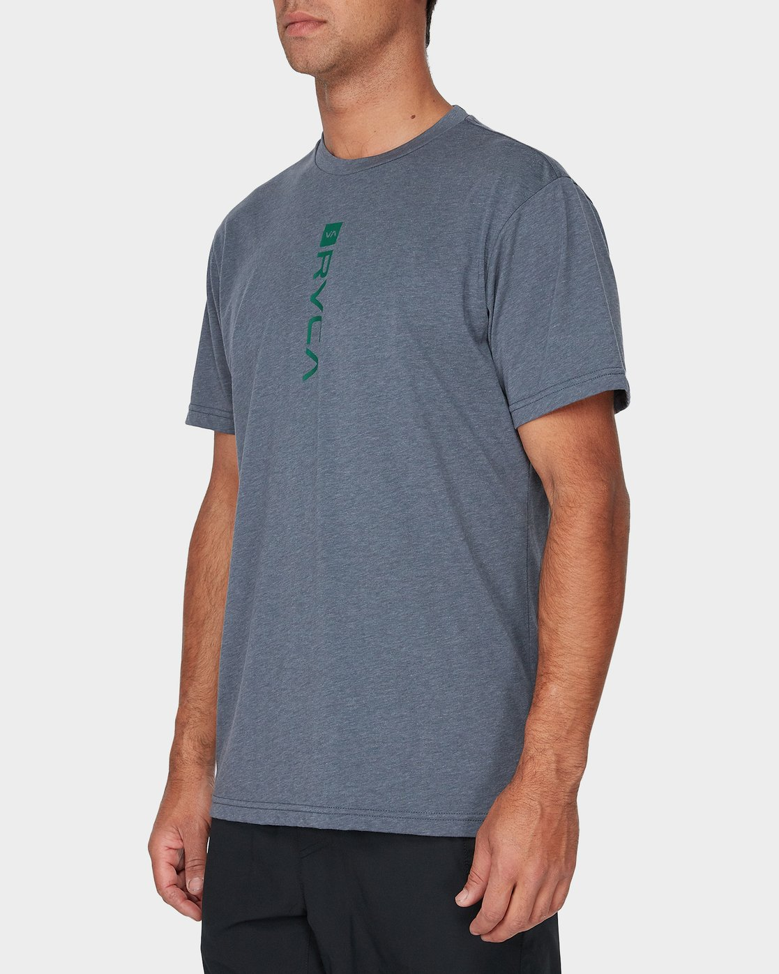 1 RVCA Verted Short Sleeve T-Shirt Grey R393052 RVCA
