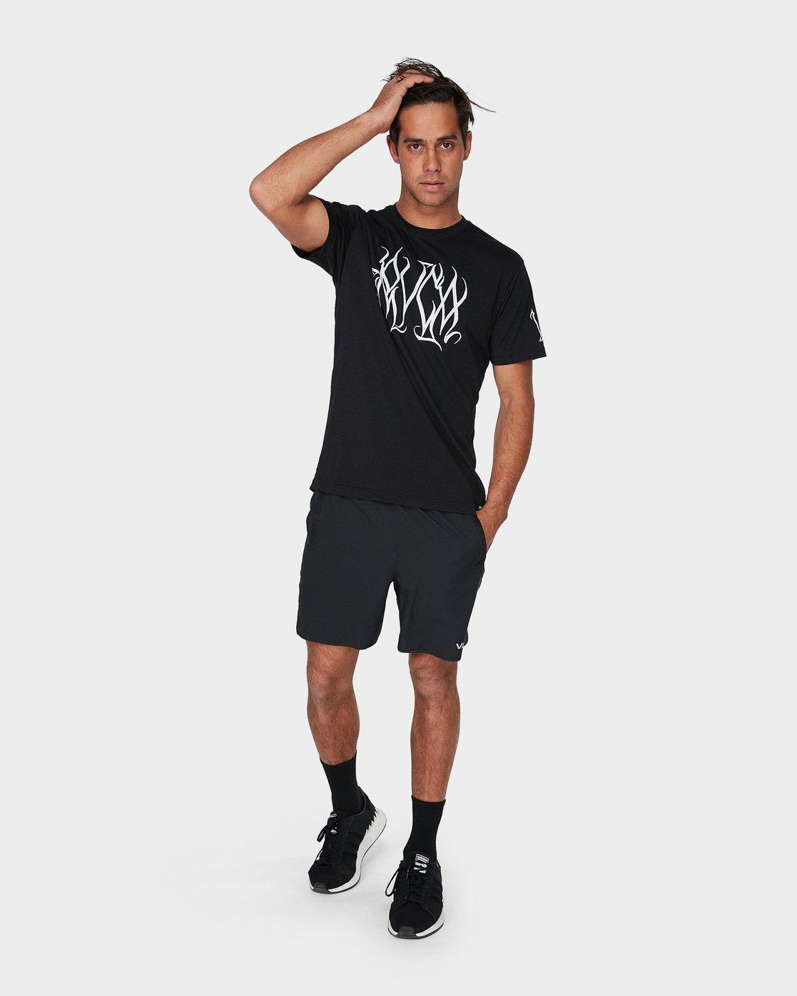 3 Big Defer Short Sleeve T-Shirt Black R393057 RVCA