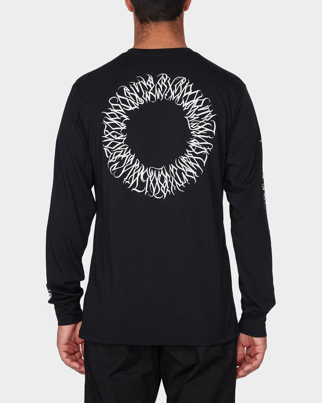 2 Defer Sphere Long Sleeve T-Shirt Black R393091 RVCA