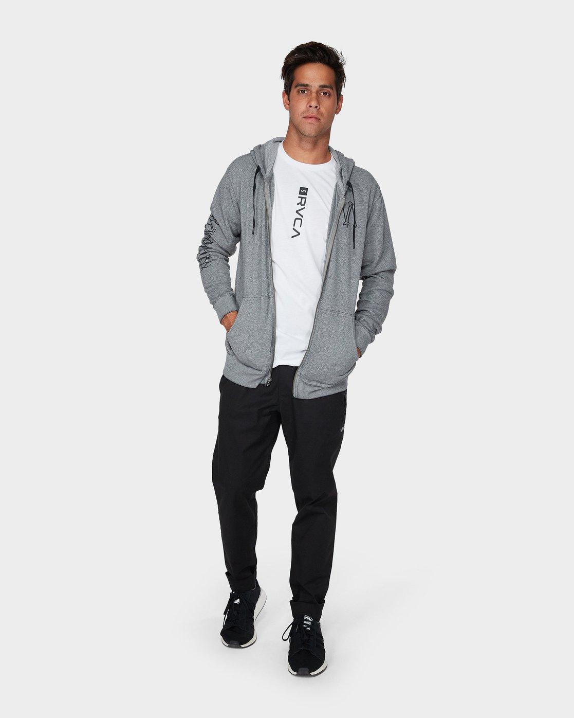 3 Defer Hoodie Grey R393159 RVCA