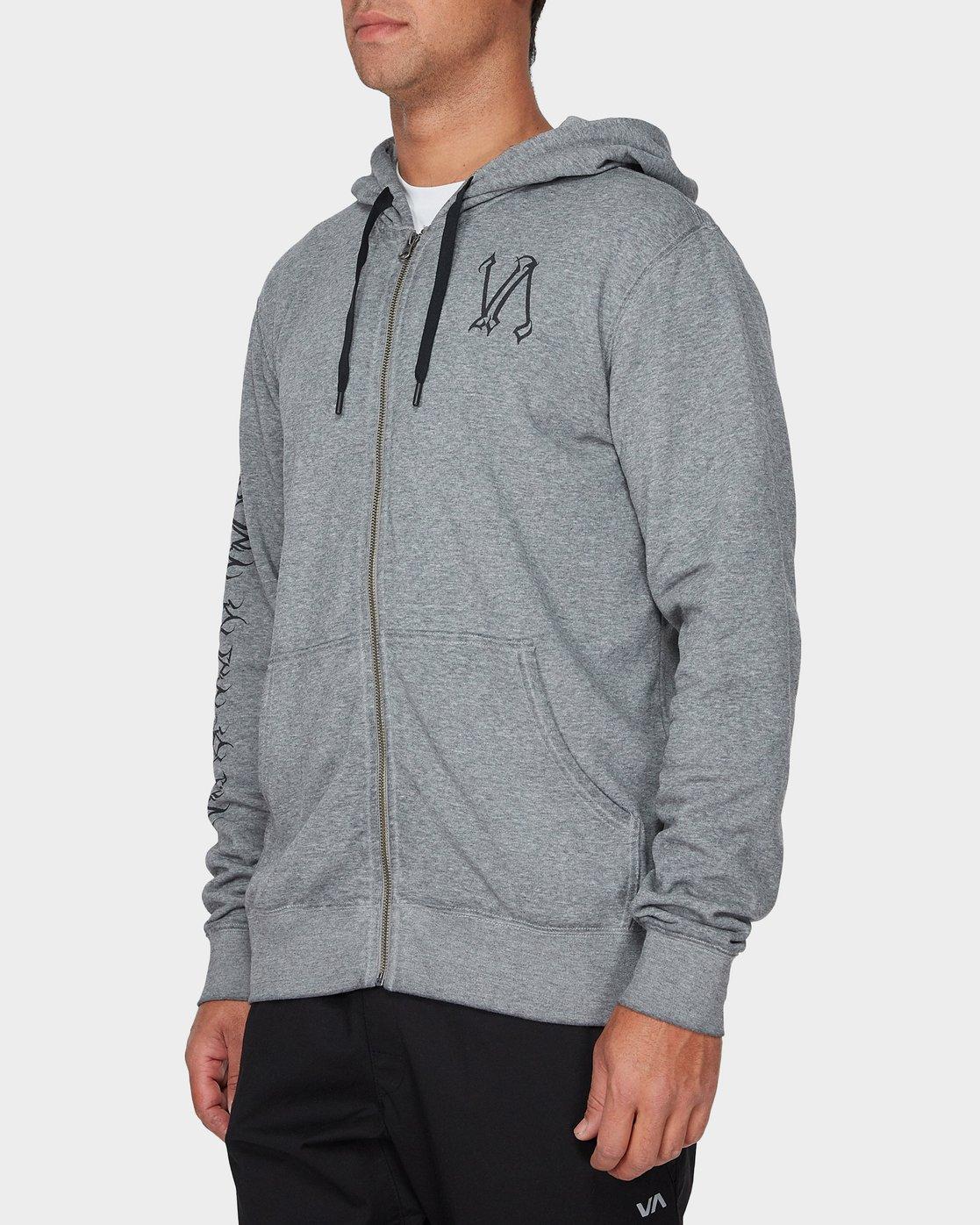 1 Defer Hoodie Grey R393159 RVCA