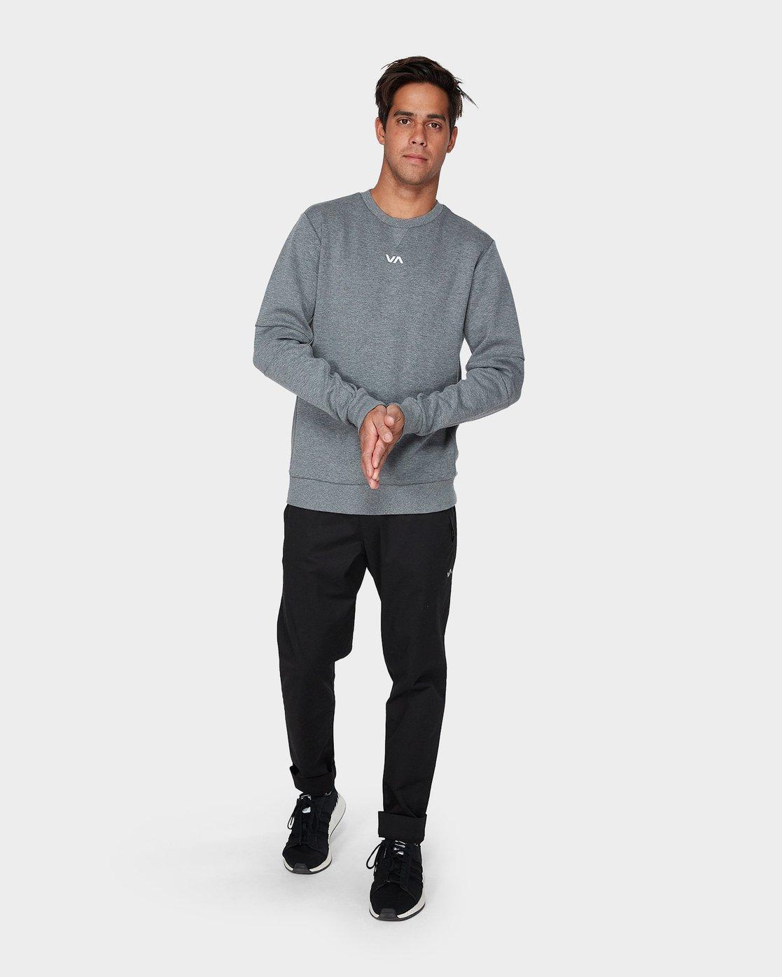 3 Sideline Sweatshirt Grey R393161 RVCA