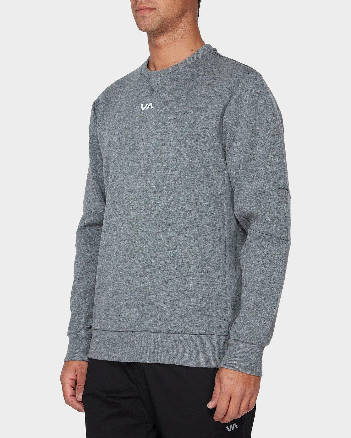 1 Sideline Sweatshirt Grey R393161 RVCA