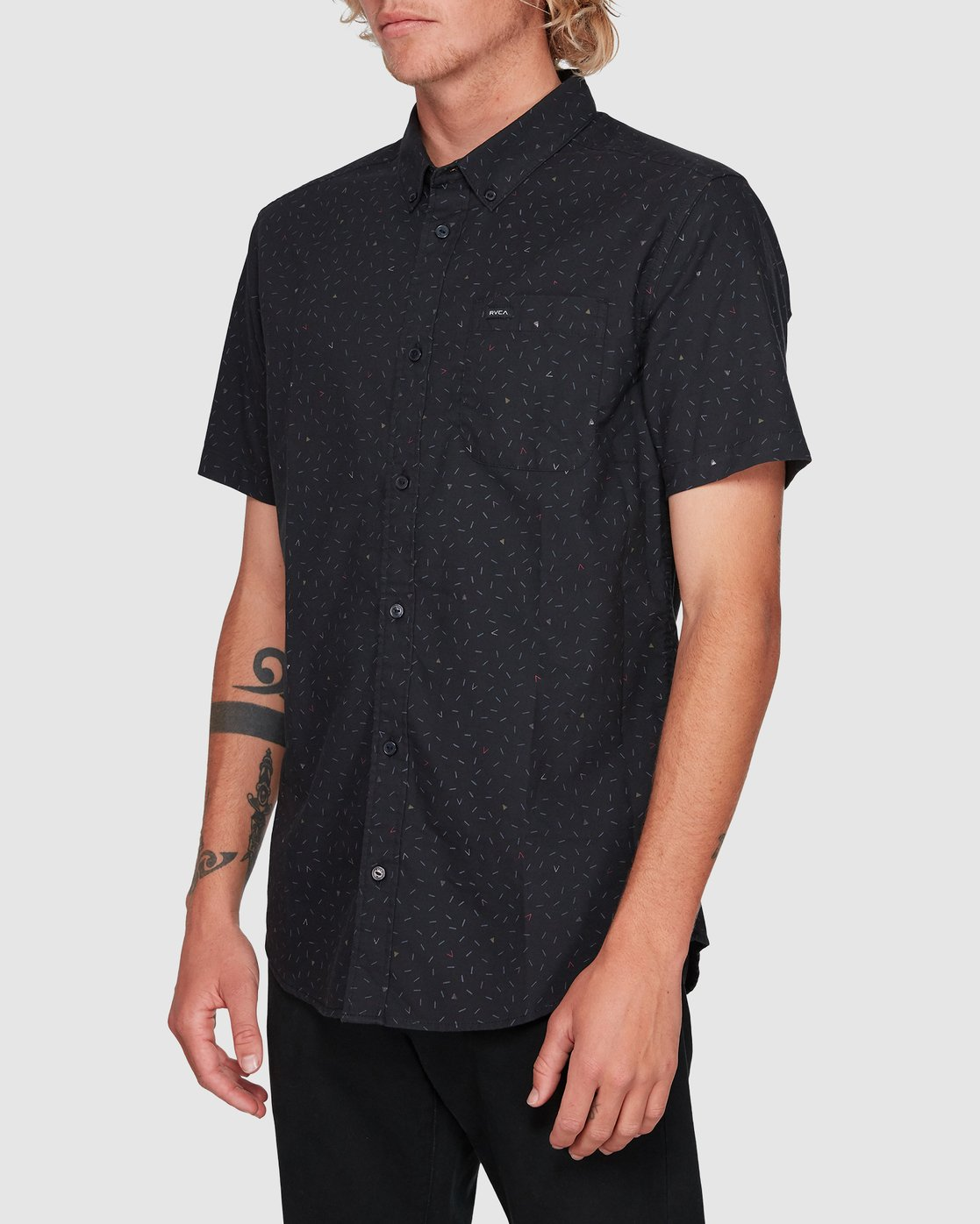 1 Thatll Do Print Short Sleeve Top Black R393188 RVCA