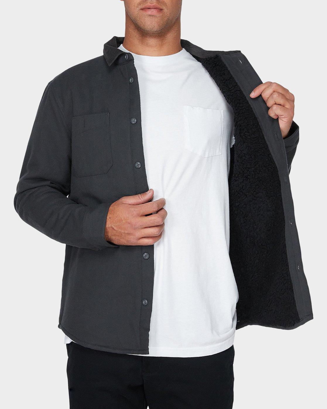3 Victory Long Sleeve Shirt Black R393441 RVCA