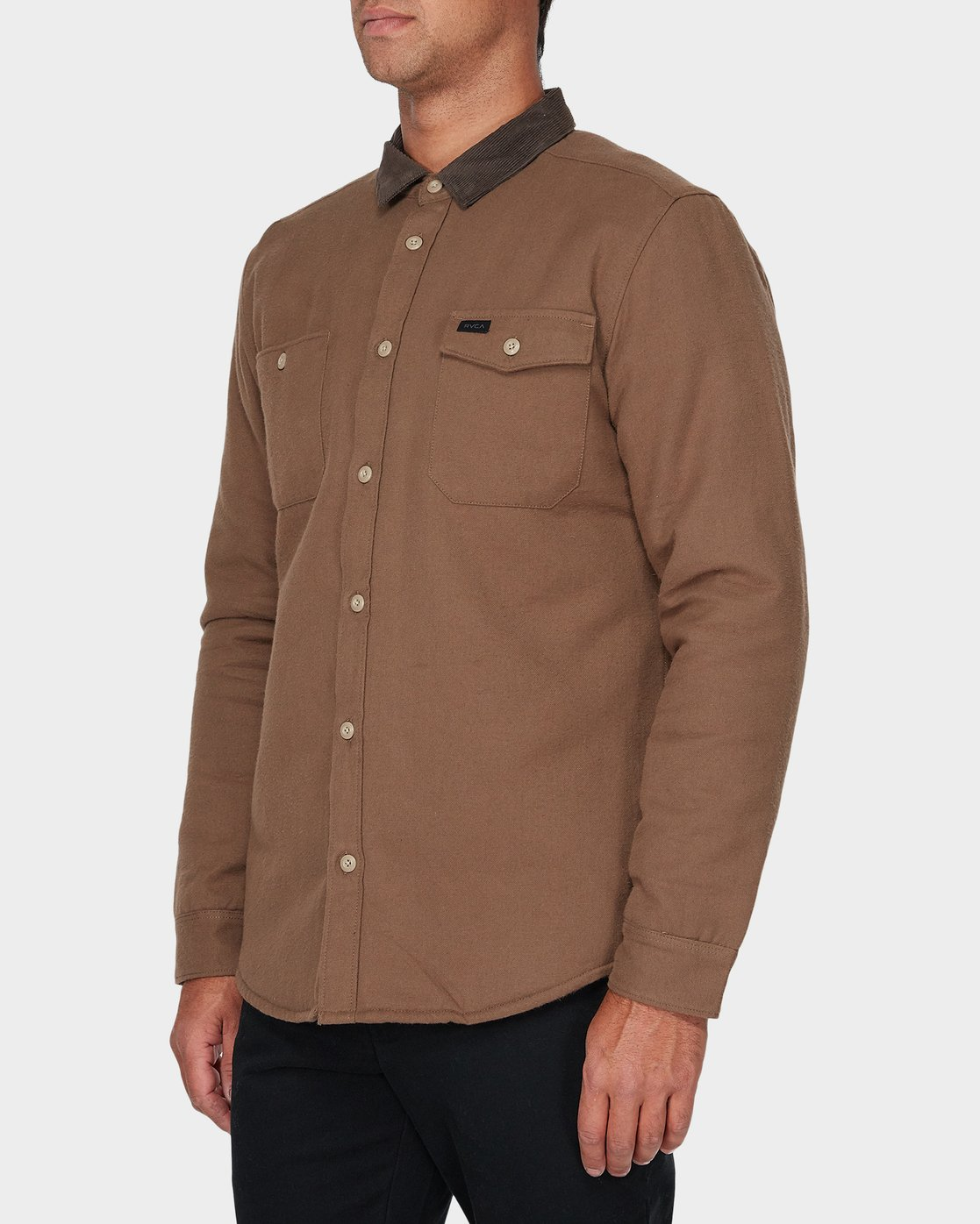 1 Victory Long Sleeve Shirt Beige R393441 RVCA