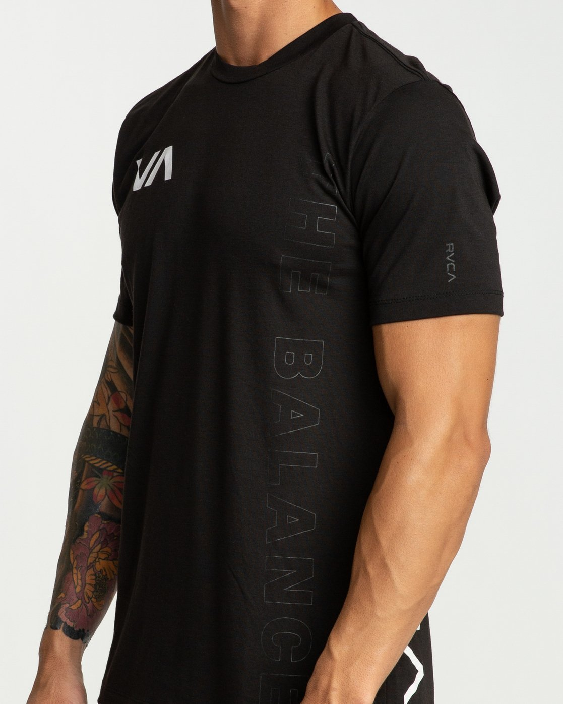 3 Pin Down Short Sleeve Black R394041 RVCA