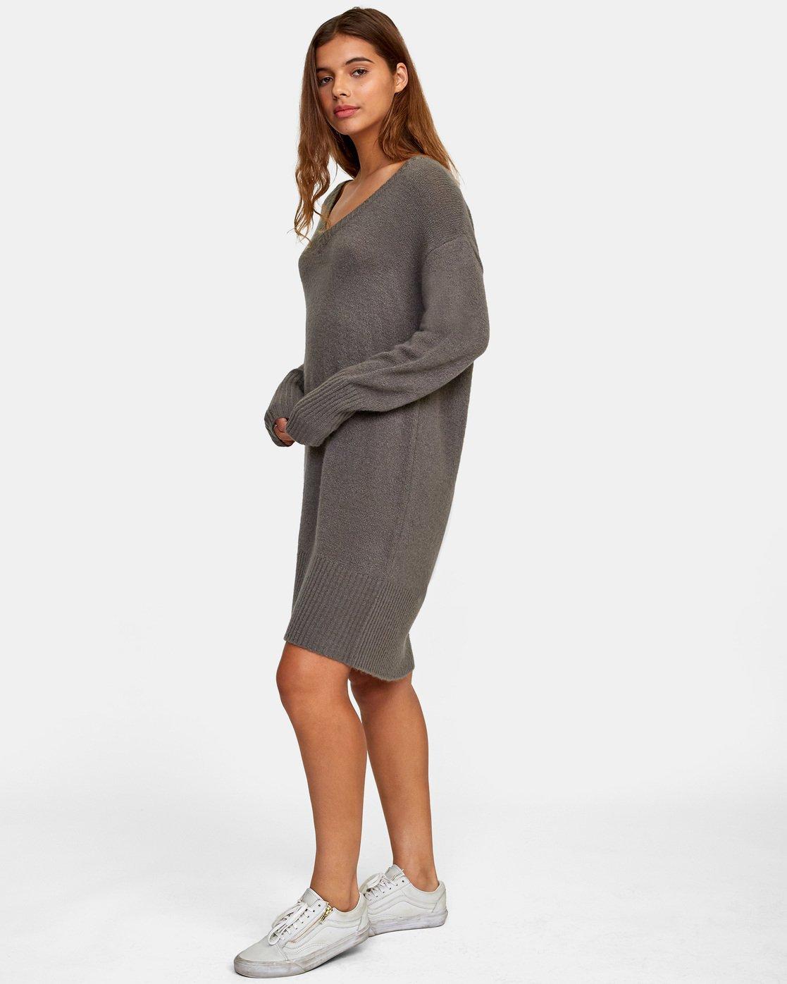 1 Quartz - Jumper Dress for Women Gray R3DRRGRVW9 RVCA