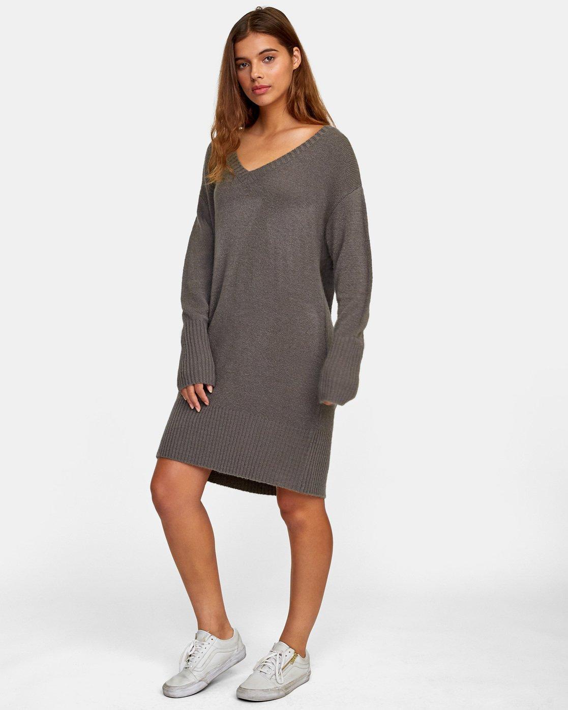 2 Quartz - Jumper Dress for Women Gray R3DRRGRVW9 RVCA