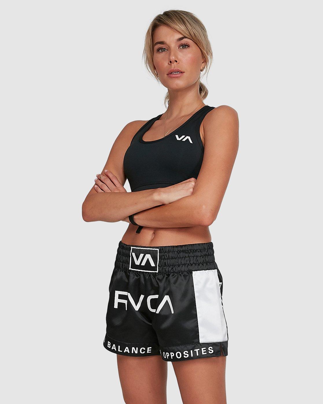 1 Rvca Muay Thai Short Black R405312 RVCA