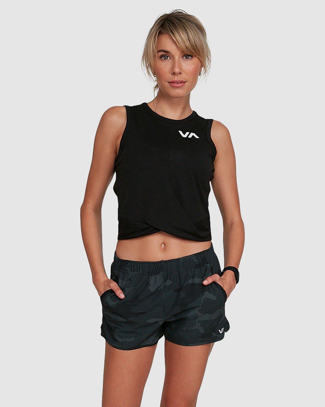 0 Womens Yogger Stretch Short Camo R405313 RVCA