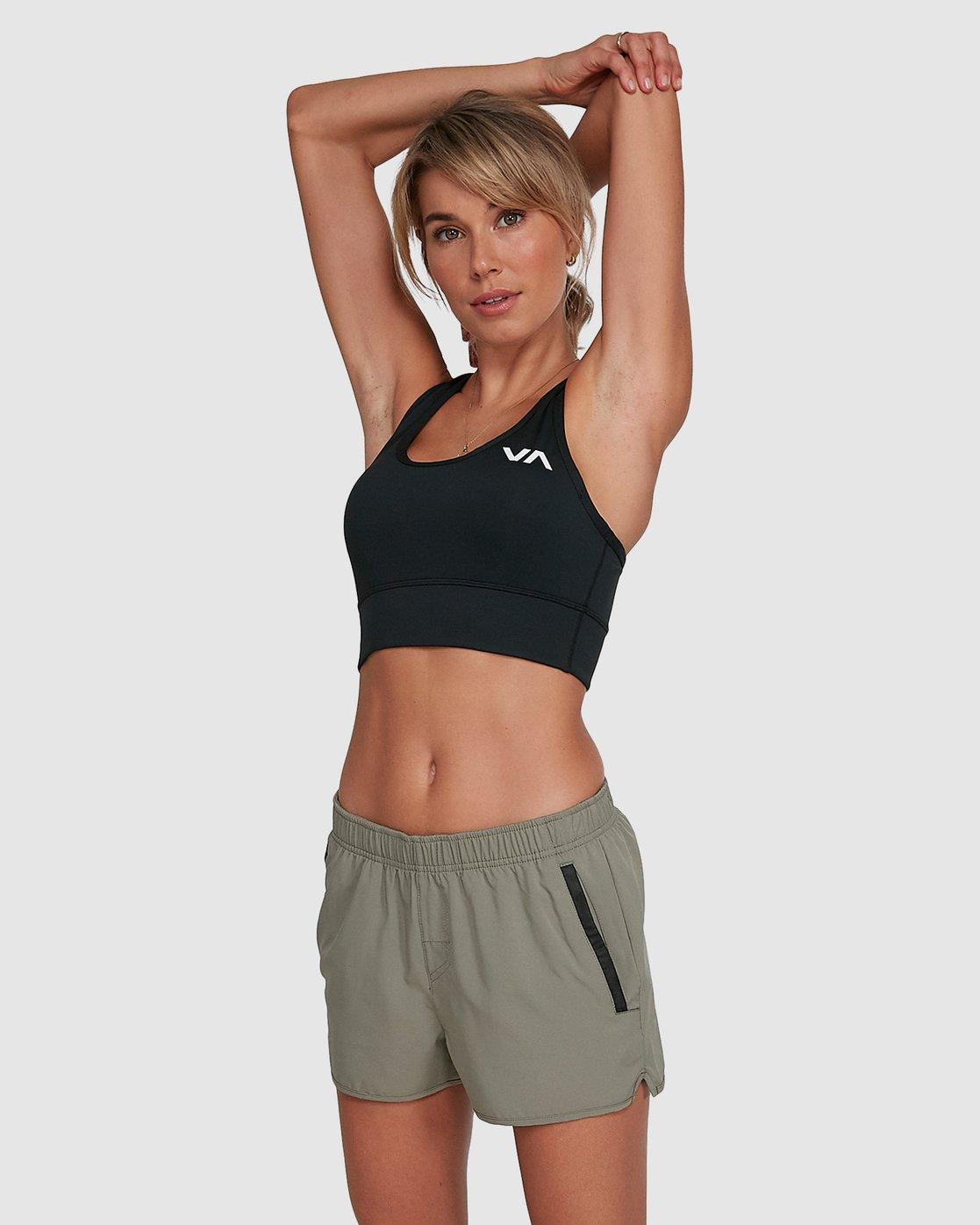 1 Womens Yogger Stretch Short Green R405313 RVCA