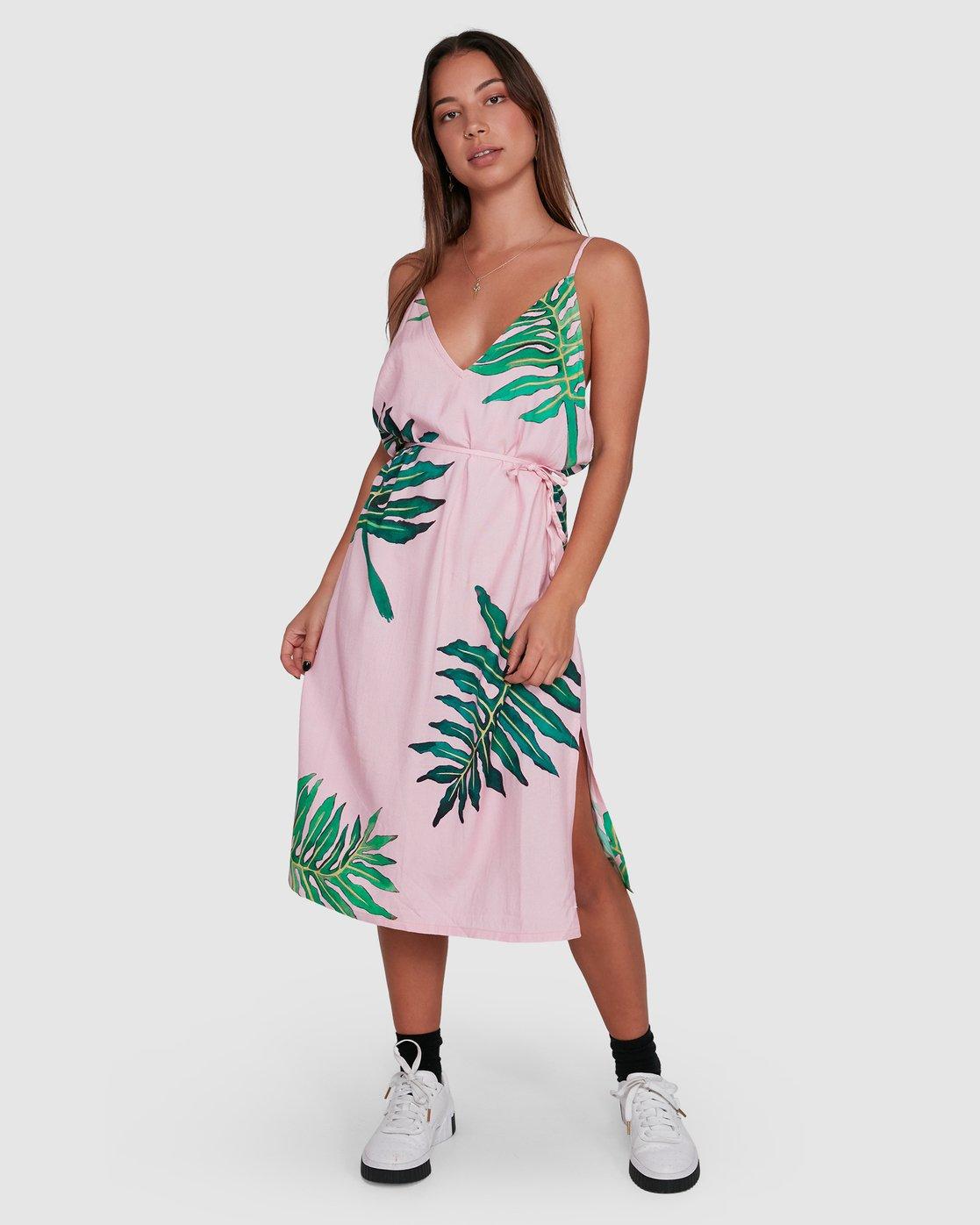 1 PALMER DRESS Pink R405754 RVCA
