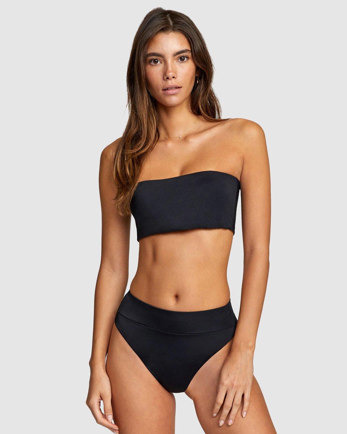 0 Solid Bandeau Bikini Top Black R406857 RVCA