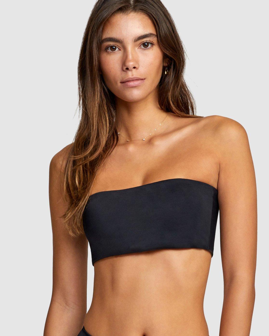 1 Solid Bandeau Bikini Top Black R406857 RVCA