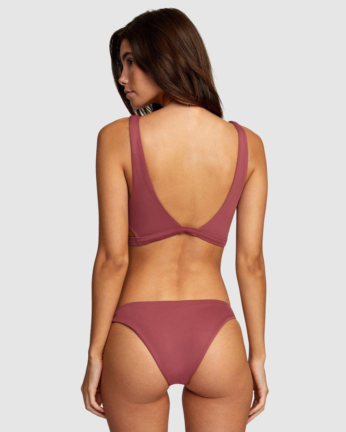 3 Solid Bralette Bikini Top Purple R406858 RVCA