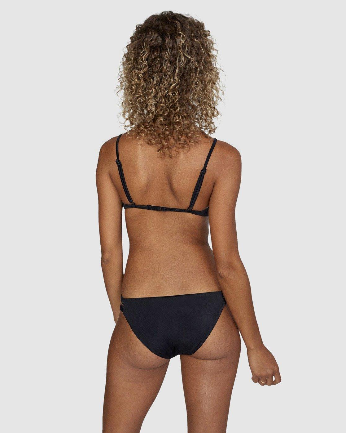 1 Solid Full Bikini Bottom Black R406861 RVCA