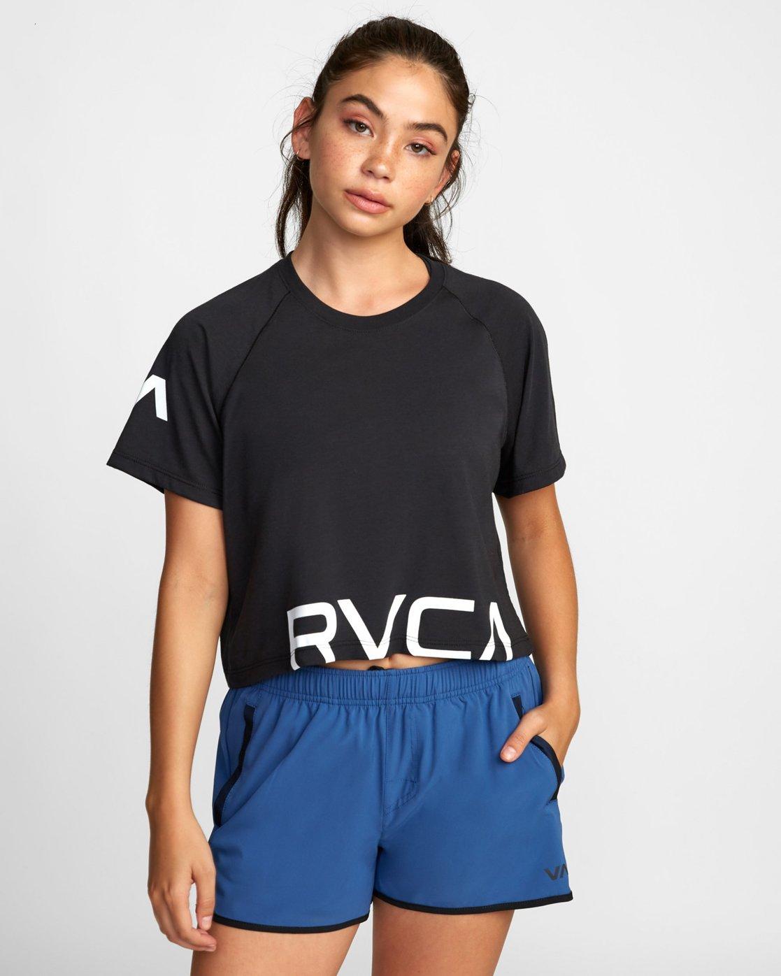 0 VA Short Sleeve Tee Black R407874 RVCA