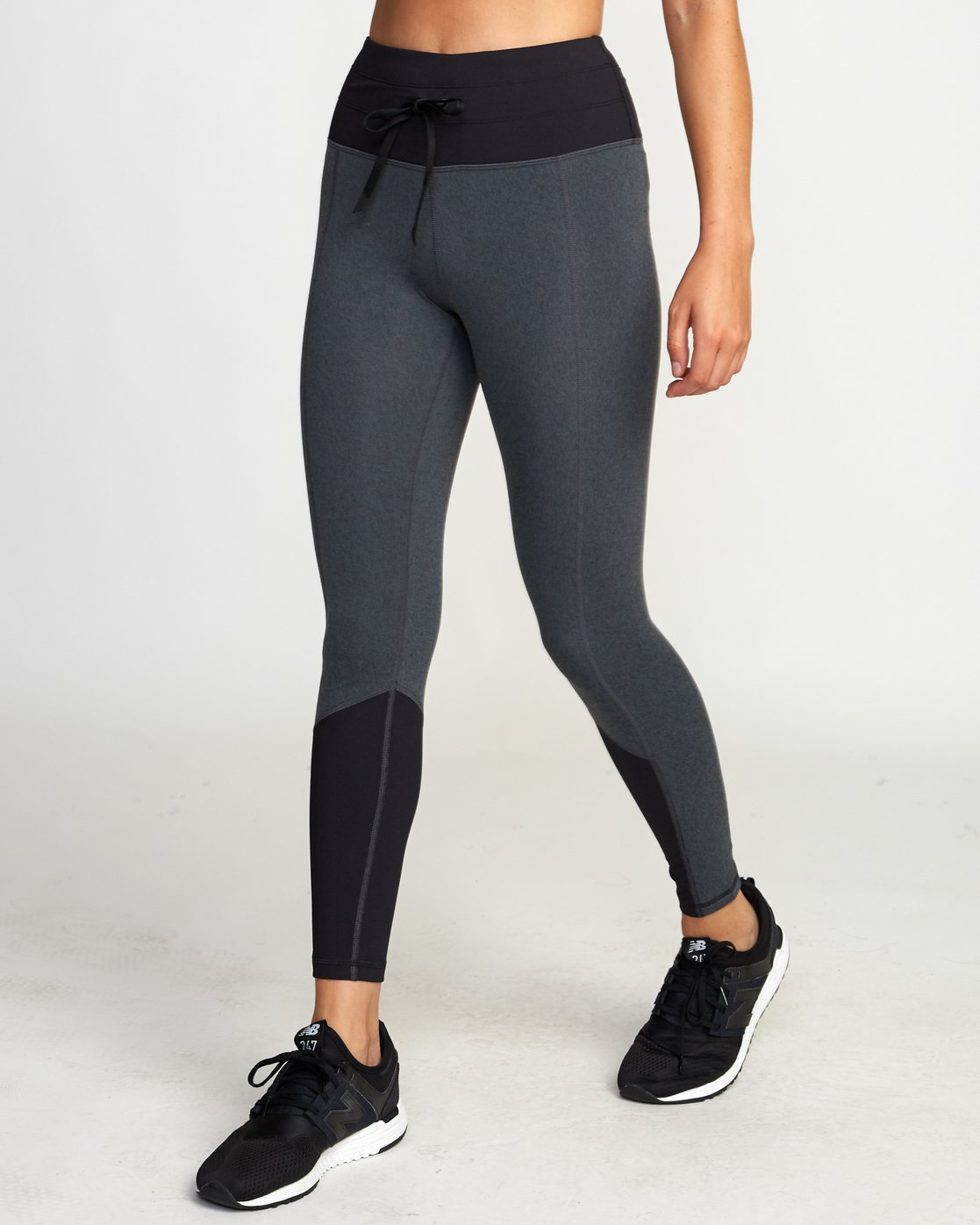 1 Sport Rib Leggings Grey R407881 RVCA