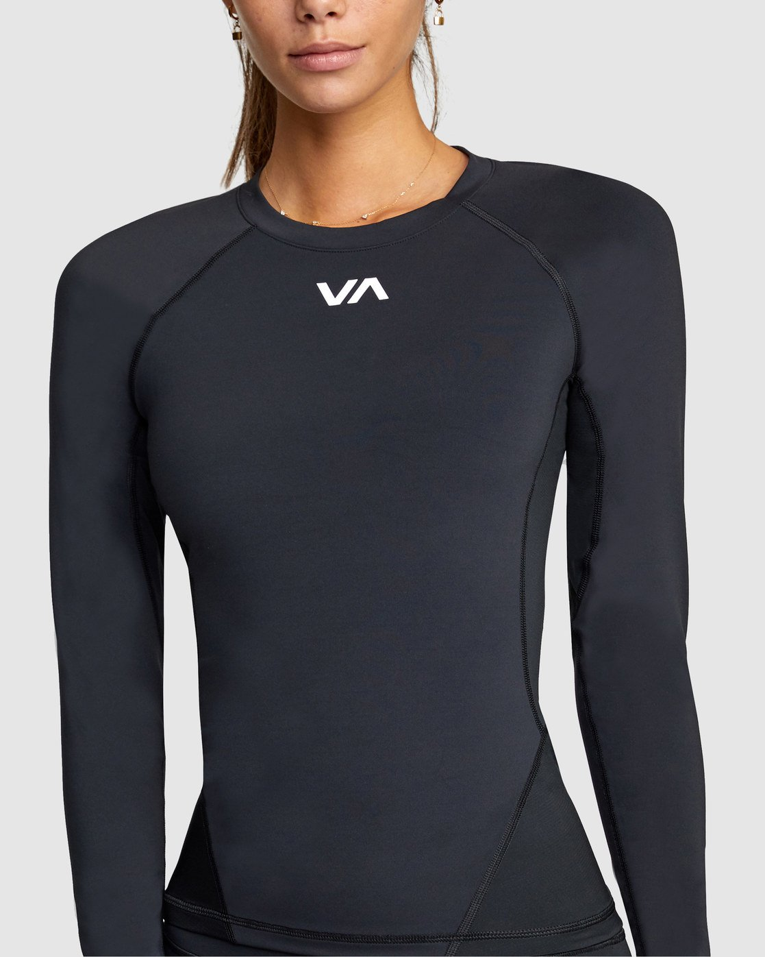 1 COMPRESSION LONG SLEEVE TEE Black R407882 RVCA