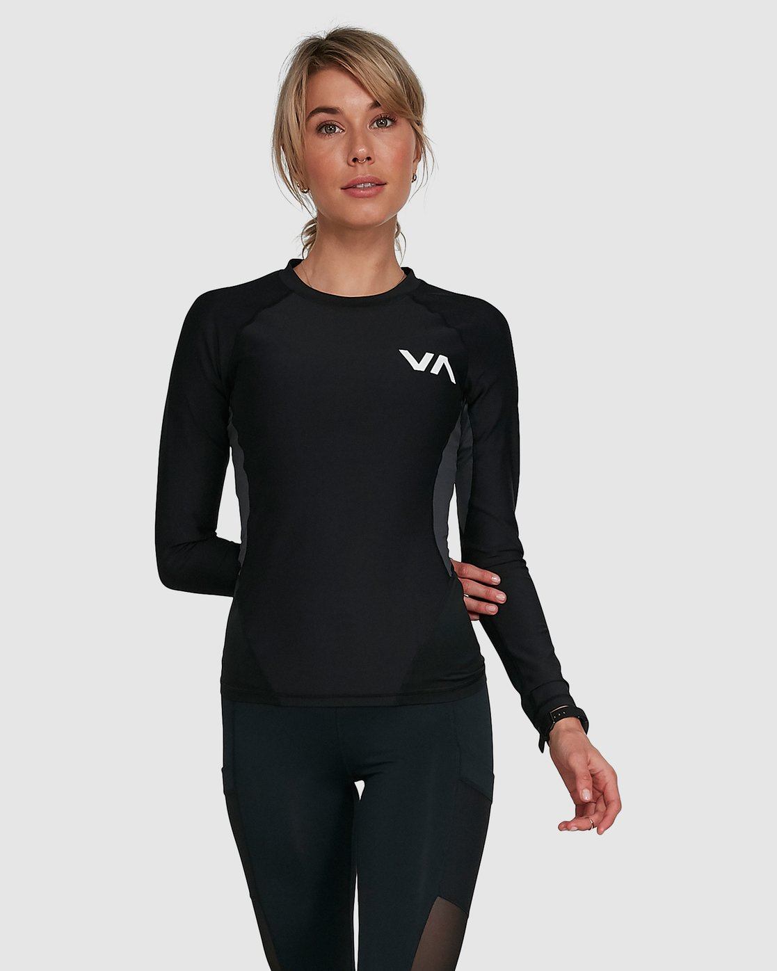 4 COMPRESSION LONG SLEEVE TEE Black R407882 RVCA