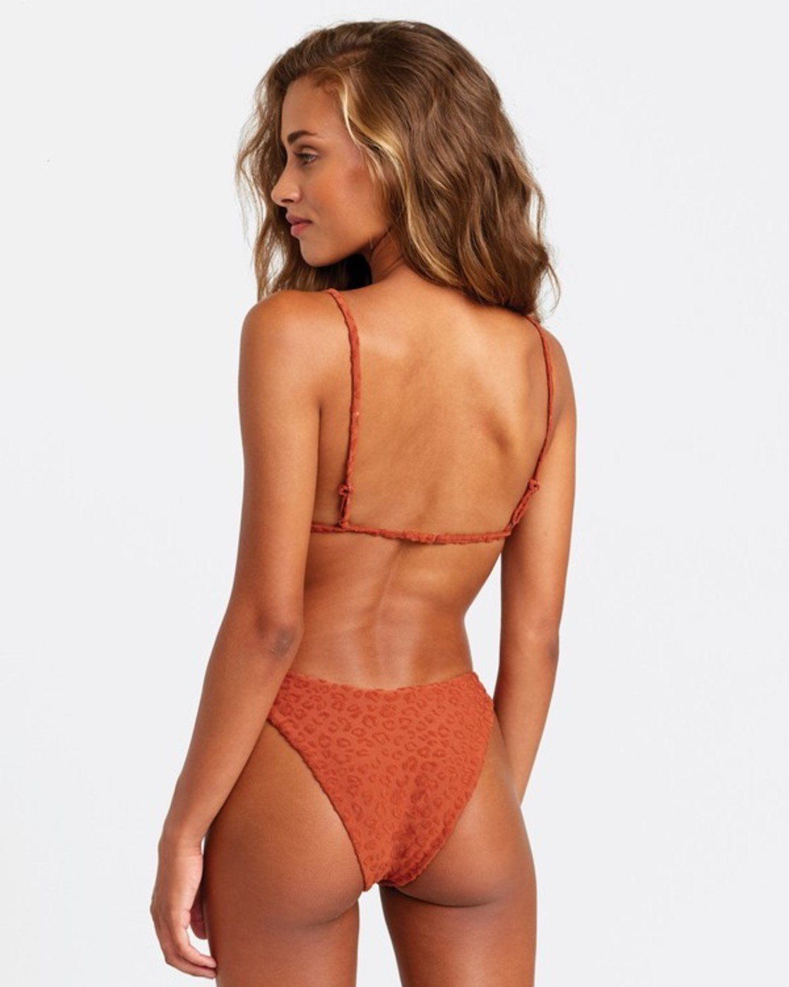 0 Wild French Bikini Bottoms Brown R408647 RVCA