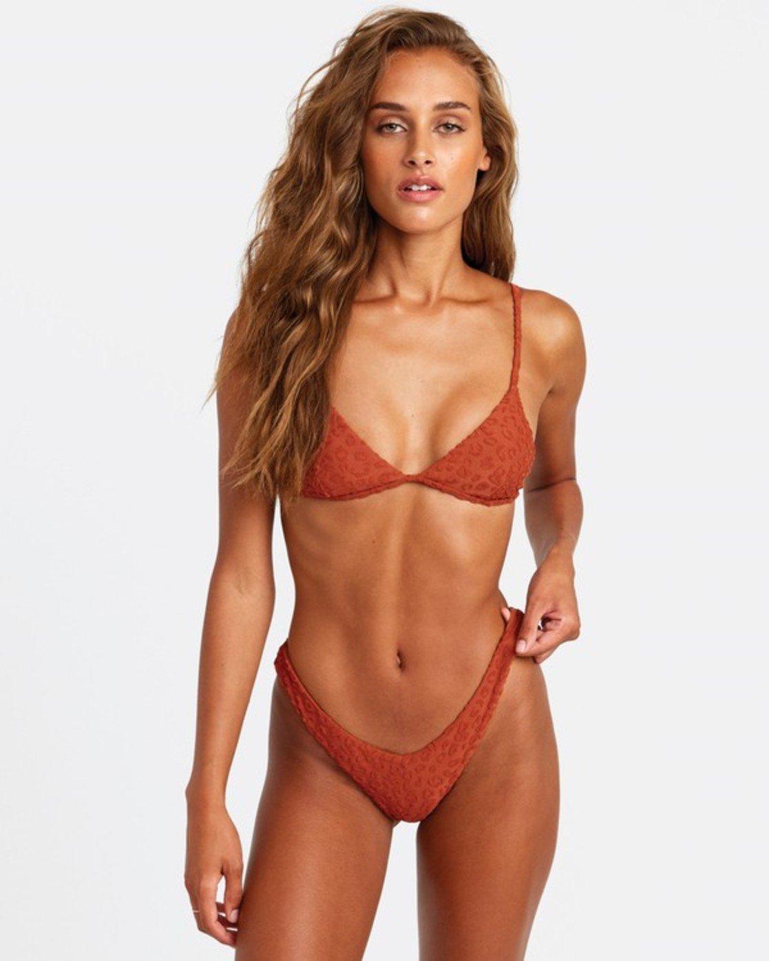 2 Wild French Bikini Bottoms Brown R408647 RVCA