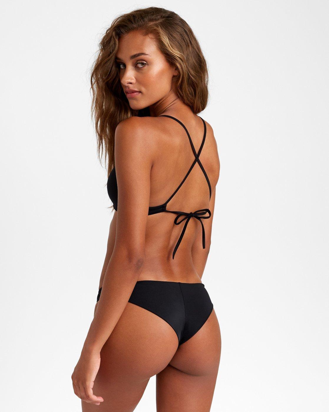 9 Solid Crossback Bikini Top Black R408650 RVCA
